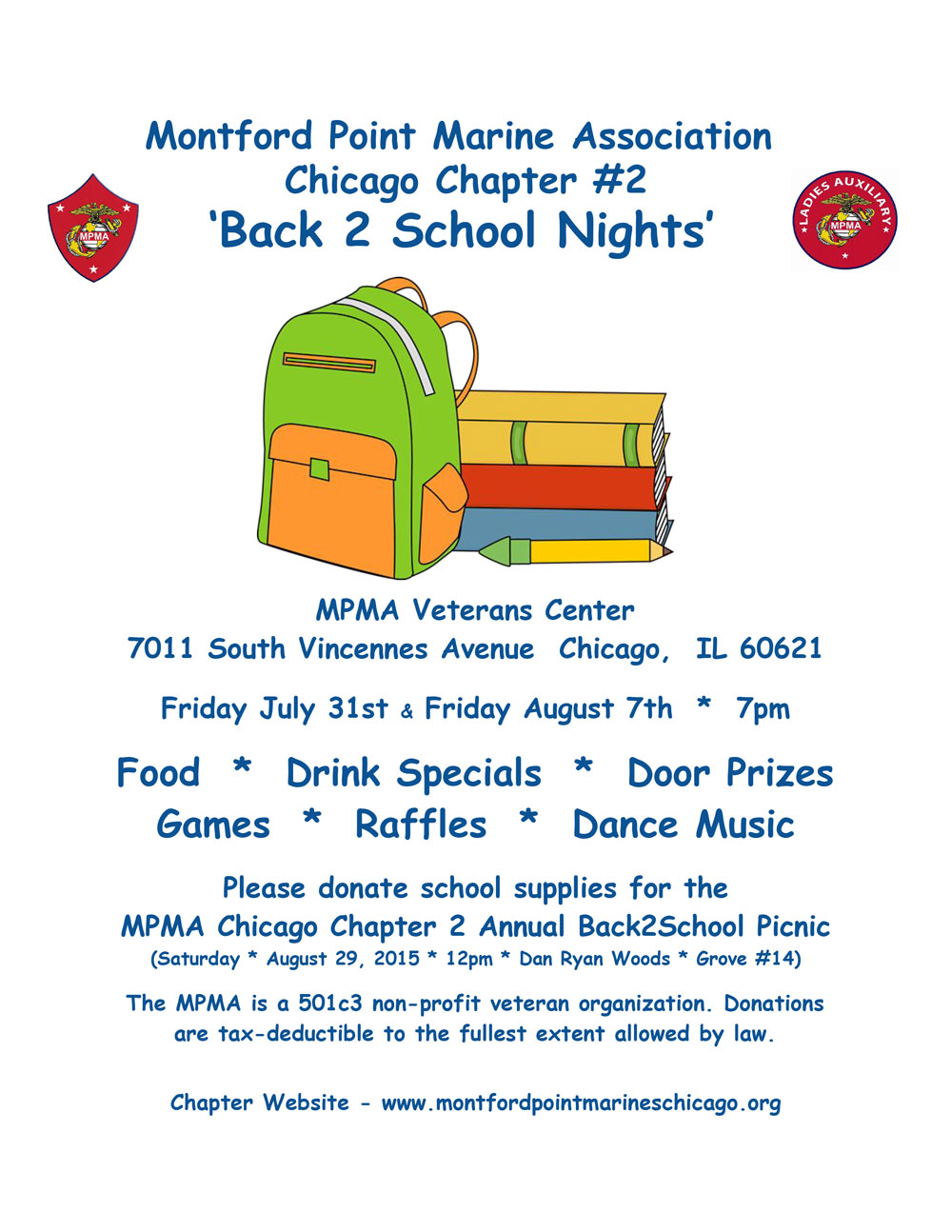 Back 2 School Nights with MPMA Chicago Chapter #2