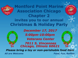 Montford Point Marine Association Chicago Chapter 2 annual Christmas & Holiday Party 2017 @ Veterans Center   Chicago   Illinois   United States