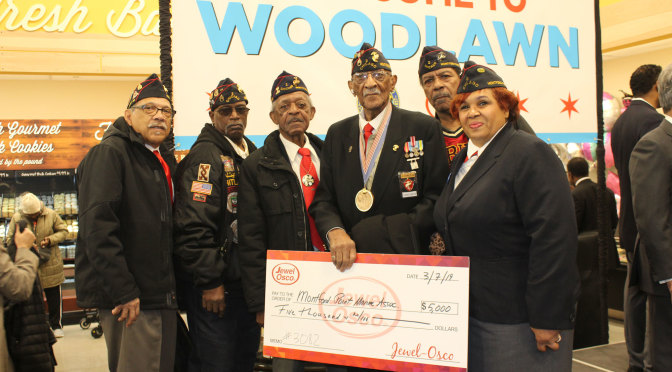 NMPMA Chicago Chapter 2 receives donation from Jewel-Osco in Woodlawn Grand Opening